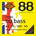 Tru Bass 88 RS88EL Black Nylon Flatwound Extra Lon
