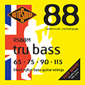 Tru Bass 88 RS88M Black Nylon Flatwound Medium 65 75 90 115