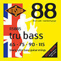 Tru Bass 88 RS88S Black Nylon Flatwound Short 65 7